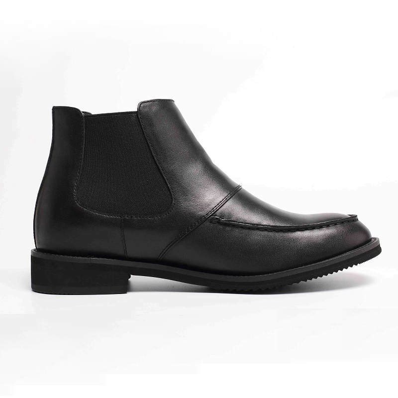 Chelsea High Heel Men Elevator Casual Boots Makes Taller Height Increasing Boots