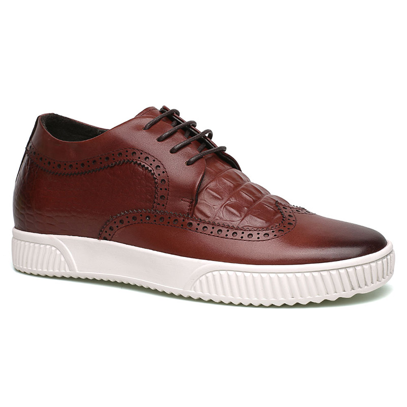 Lifting Shoes Men Red Casual Height Increasing Shoes 6 CM / 2.36 Inches