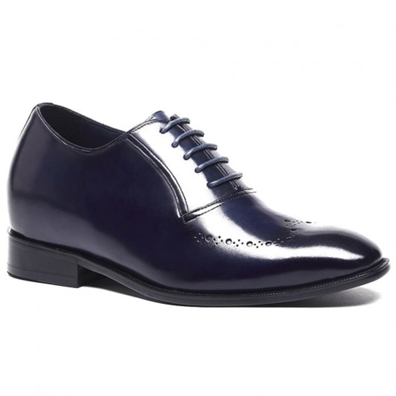 Custom Leather Luxury Elevator Shoes To Add Height 7cm/2.76 Inches