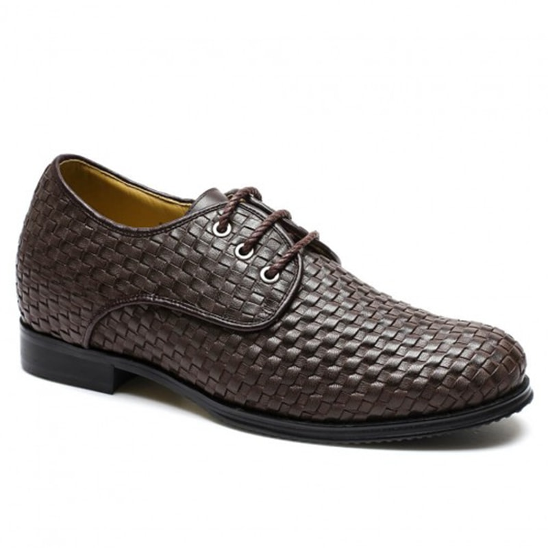 High-End Leather Heel Lift Custom Elevator Shoes For Men To Get Taller 7CM / 2.76 Inches