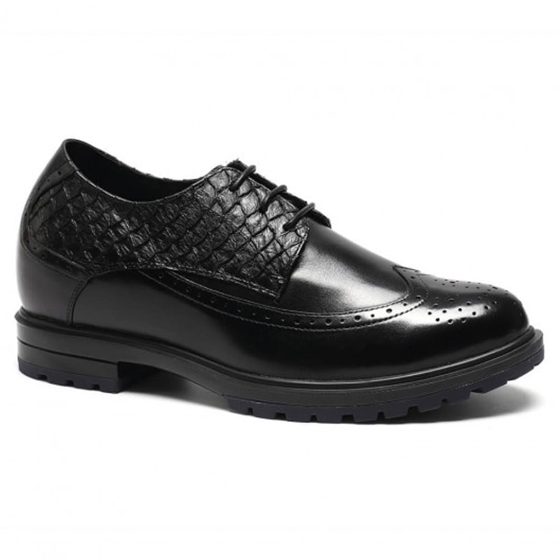 Custom Formal Height Increasing Shoes For Men 7CM /2.76 Inches
