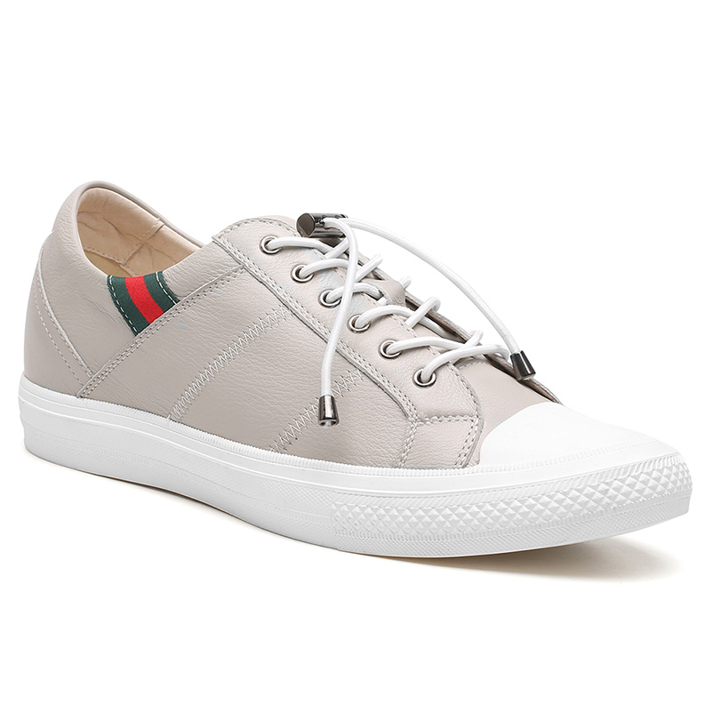 Men Locaka Grey Height Increasing Shoes That Makes You Taller 6 CM/2.36 Inches