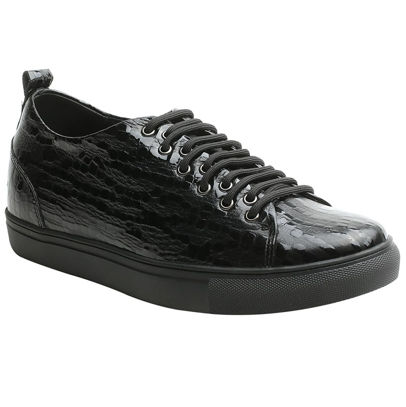 Men High Heel Black Elevator Sneaker Shoes That Gives You Extra Height 6cm/2.36 Inch