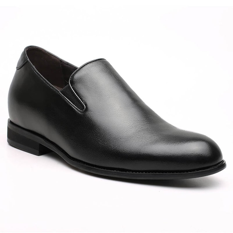 Black Loafers Mens Elevator Dress Shoes Leather Shoes