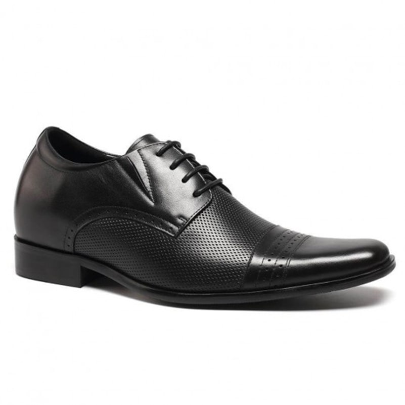 Elevator Shoes Men Increasing Height Shoes Business Formal Black Dress Shoes Taller 7cm/2.76 Inch